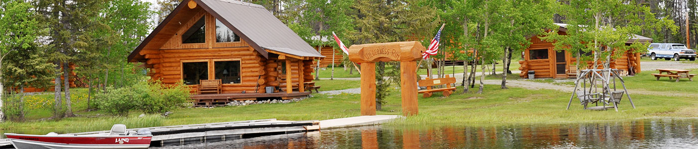 Header photo of Trumpeter cabin, dock gateway, fish house